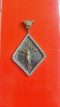 Handmade Silver Cross with Stones Necklace Edgware