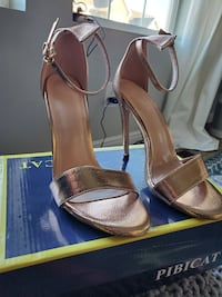 Rose Gold heels size 7.5, brand new in box