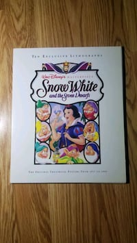 10 snow white lithographs with folder and limited edition book New York, 11104