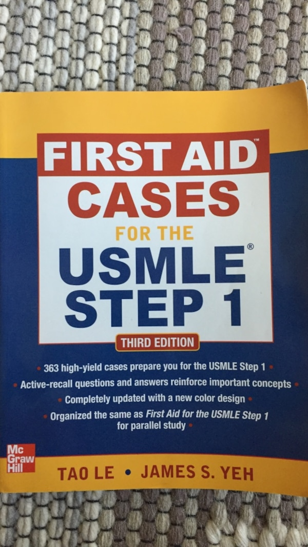 First Aid Cases for the USMLE Step 1 textbook