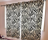 Zebra pattern curtain with the metal rod Laval, H7W 1E8