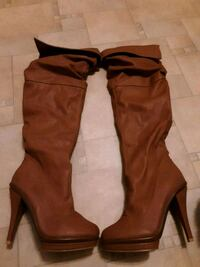 brown leather knee high boots Gastonia, 28054