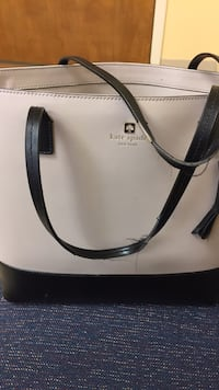 white and black leather tote bag Vienna, 22180