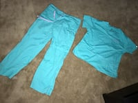 Women's blue scrub bottoms and top size M  Melbourne, 32935