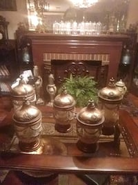 Glass and copper color. Candle holders Tampa, 33610