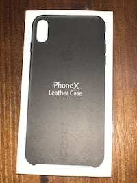 Funda de piel para el iPhone X de color negro 5876 km