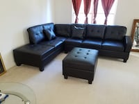 Brand new black leather sectional sofa  Silver Spring, 20902