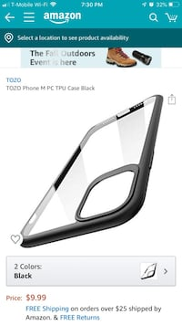 TOZO Phone M PC TPU Case Black Gaithersburg, 20878