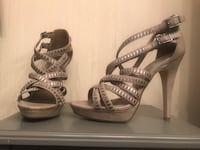 Grey/Silver strappy stiletto heels Annandale, 22003