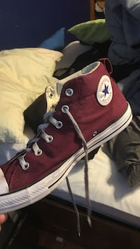 red and white Converse All-Star high tops Obetz, 43207