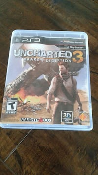 Uncharted 3 PS3 game case Calgary, T3J 3H2