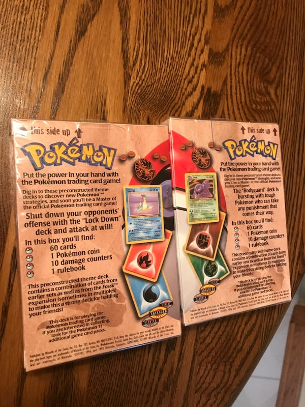 Pokémon Fossil Theme Deck Bundle: BodyGuard and Lockdown UNOPENED 1