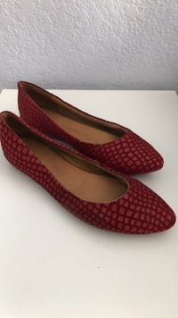 Red flats. Size 7. San Diego, 92126