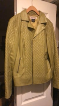 brown leather zip-up jacket Oxon Hill, 20745