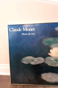Large Claude Monet Print with silver frame  Hamilton, L8V 1W4
