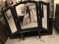 Vanity with Foldable mirror