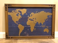 Framed rustic world map art from Michael's Parsippany, 07054