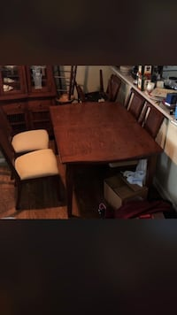 Dining room table set with leaf