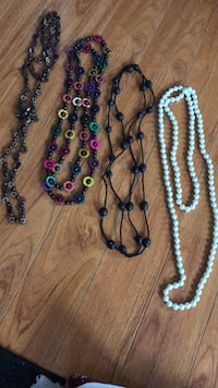 blue, red, and white beaded necklaces Brampton, L6X 4E9