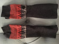 Bench knit hand/arm warmers