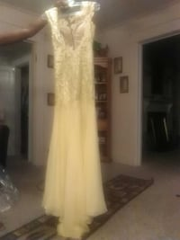 designer prom dress made by MacDuggal