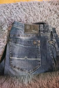Mens blue grey distressed buffalo david bitton jeans