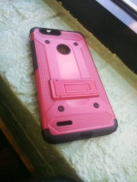 pink and black smartphone case