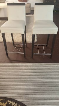 white padded armless chair Oakville, L6L 6W4
