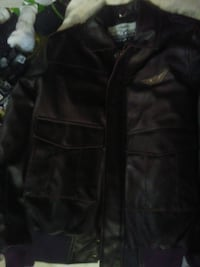Aviation leather jacket