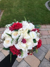 Bridal and bridesmaids silk flower bouquets Toronto
