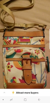 white, red, and green floral crossbody bag Albuquerque