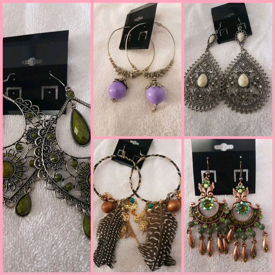 5 pr earrings collection.