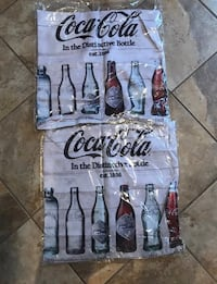 """2 New Coca-Cola Pillow Covers 17"""" x 17"""" Lutz, 33549"""