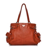 PRADA Vitello Daino Shoulder Bag Arancio   Bessemer, 35022