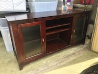 Brown wooden tv stand with cabinet Virginia Beach, 23464