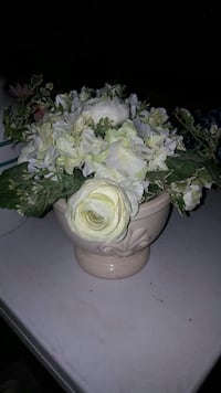 white-petaled flowers with white ceramic plant pot Bakersfield, 93304