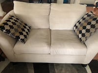 White fabric 2 Piece Sofa Florence, 29501