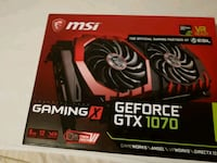 svart MSI Geforce GTX 1070 8gb grafikkortboks 6250 km