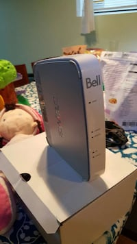 black and white Bell wifi modem router