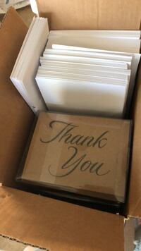 """Thank You"" cards and envelopes Charleston, 29492"