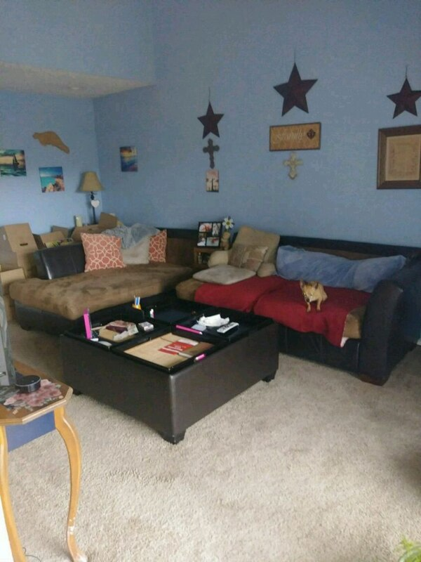 Used black and red living room set for sale in Fort Worth - letgo