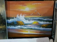 """16"""" x 20"""" sunset oil painting on canvas  London"""