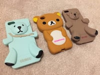 3x assorted cute bears rubberized phone cases - fits iPhone 5/5S Hamilton, L9K