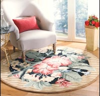 BRAND NEW 5.6x5.6ft (170x170cm) Floral Wool Round Area Rug Waterloo, N2V 1C3