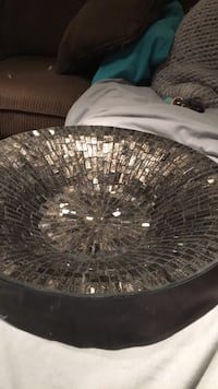 Silver glass presentation bowl