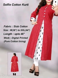 red and white floral dress Ludhiana, 141001