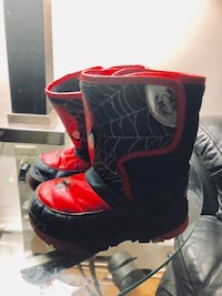 Toddler's black-and-red Spider-man boots