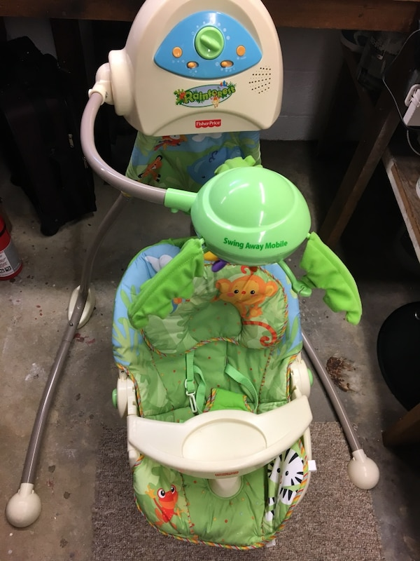 Blue White And Green Fisher Price Swing Away Mobile