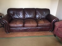 Brown leather 3-seat sofa Lorton, 22079