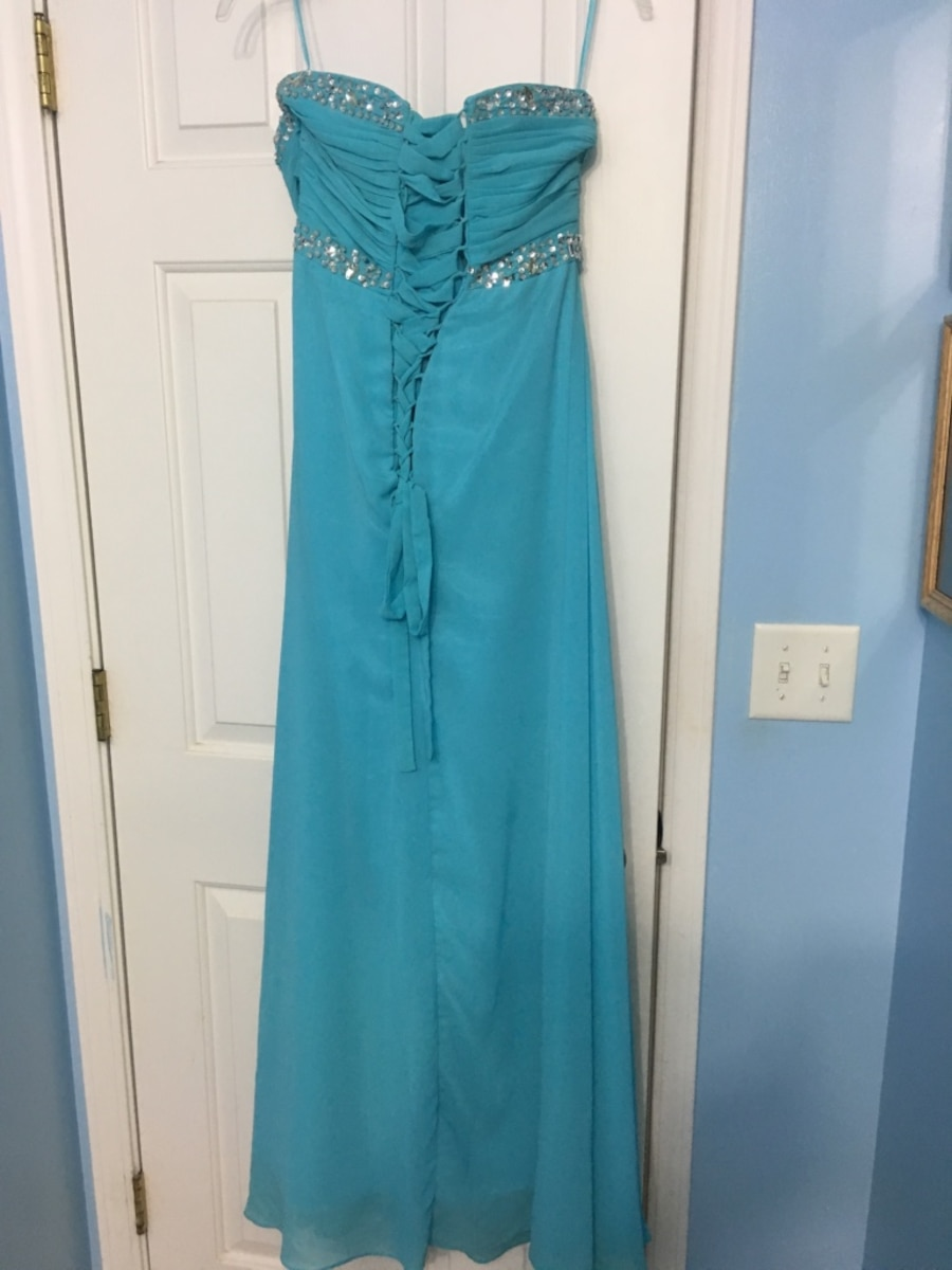 Size 10 . Women's teal tube dress - McHenry
